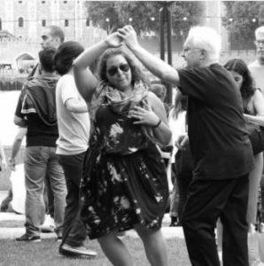 Richard dancing Salsa in London